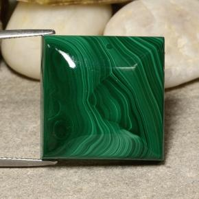 Multicolor Green Malachite Gem - 60ct Square Cabochon (ID: 484061)