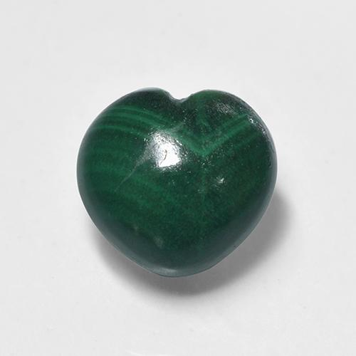 Multicolor Green Malachite Gem - 2.2ct Heart Cabochon (ID: 499636)