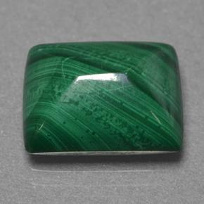 Multicolor Green Malachite Gem - 5.4ct Baguette Sugarloaf Cabochon (ID: 499869)