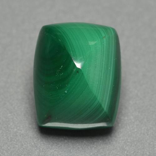 Multicolor Green Malachite Gem - 7.5ct Cushion Shape Sugarloaf Cabochon (ID: 500076)