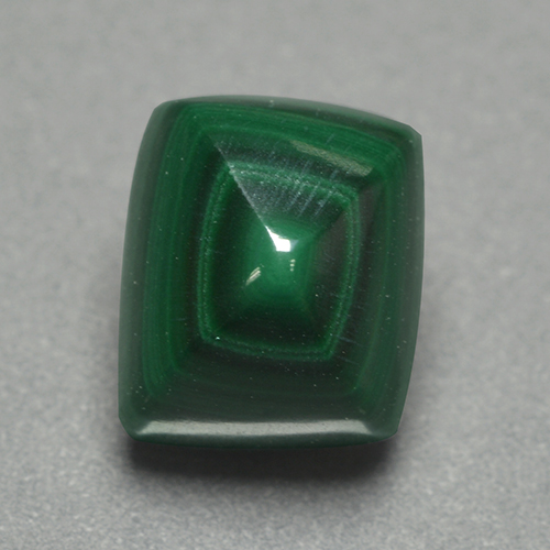Multicolor Green Malachite Gem - 4.3ct Cushion Shape Sugarloaf Cabochon (ID: 500078)
