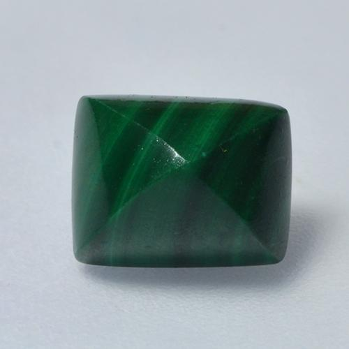 Green Malachite Gem - 2.3ct Baguette Sugarloaf Cabochon (ID: 526085)