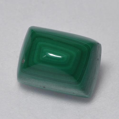 Multicolor Green Malachite Gem - 3ct Baguette Cabochon (ID: 526539)
