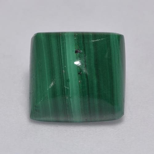 Medium Green Malachite Gem - 4.2ct Cabochon quadrato (ID: 526751)