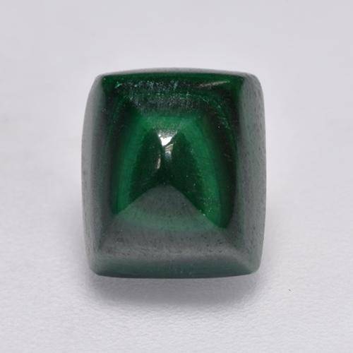 Green Malachite Gem - 3.6ct Baguette Sugarloaf Cabochon (ID: 527580)