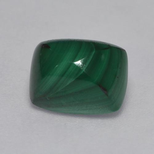 Multicolor Green Malachite Gem - 2.5ct Cushion Sugarloaf Cabochon (ID: 527583)