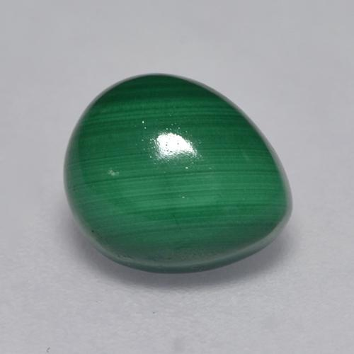 Medium Green Malaquita Gema - 2.4ct Cabujón Pera (ID: 527584)