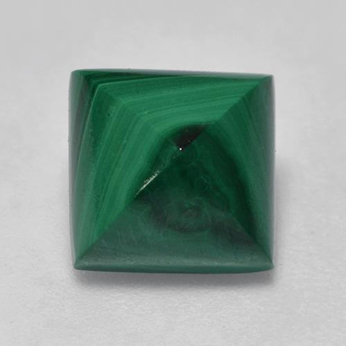 Medium Green Malaquita Gema - 3.5ct Cabujón Sugarleaf cuadrado (ID: 528250)