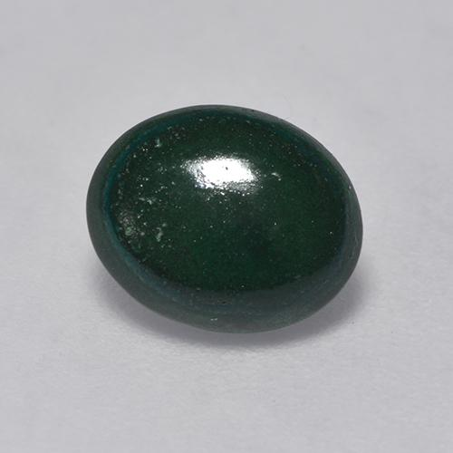 Deep Green Malachite Gem - 1.9ct Oval Cabochon (ID: 528258)