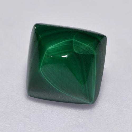 Multicolor Green Malachite Gem - 3.8ct Square Sugarloaf Cabochon (ID: 528262)