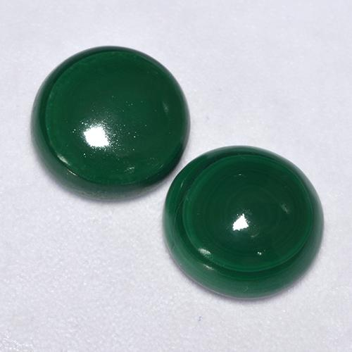 Green Malachite Gem - 2.6ct Round Cabochon (ID: 528263)