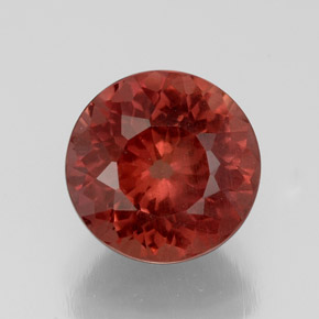 3.8ct Round Facet Rose Malaya Garnet Gem (ID: 329835)