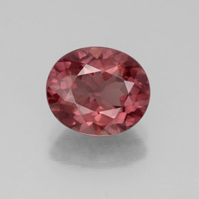 2.79 ct Oval Facet Rose Malaya Garnet Gemstone 9.09 mm x 7.6 mm (Product ID: 332192)