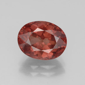 Medium Red Granate Malaya Gema - 3.4ct Forma ovalada (ID: 332198)