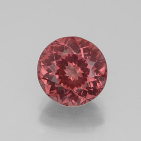 3.1ct Round Facet Pinkish Rose Malaya Garnet Gem (ID: 332756)