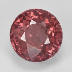 2.6ct Round Facet Rose Malaya Garnet Gem (ID: 332808)