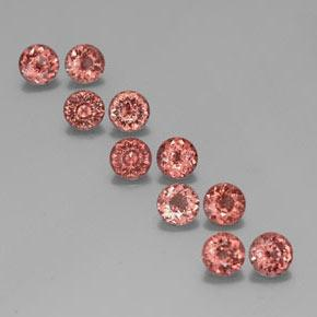 Pink Orange Malaya Garnet Gem - 0.6ct Round Facet (ID: 354633)