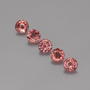 0.8ct Round Facet Pink Orange Malaya Garnet Gem (ID: 355531)