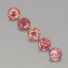 Pinkish Rose Malaya Garnet Gem - 0.8ct Round Facet (ID: 357383)