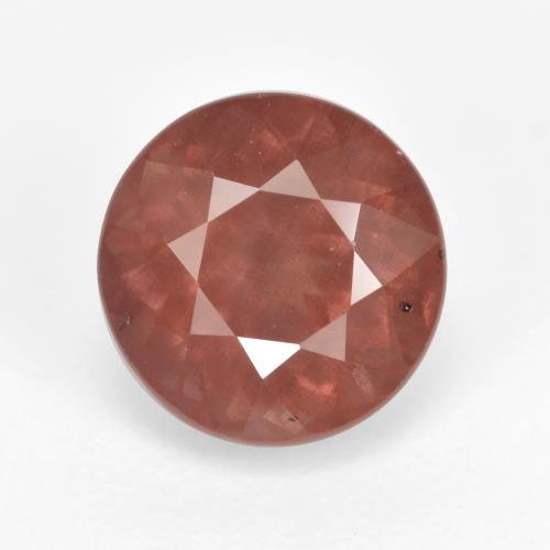 Pink Orange Malaya Garnet Gem - 2.7ct Round Facet (ID: 495844)