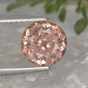 2.1ct Round Facet Pink Orange Malaya Garnet Gem (ID: 495888)