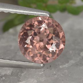 Pinkish Rose Malaya Garnet Gem - 1.2ct Round Facet (ID: 495901)