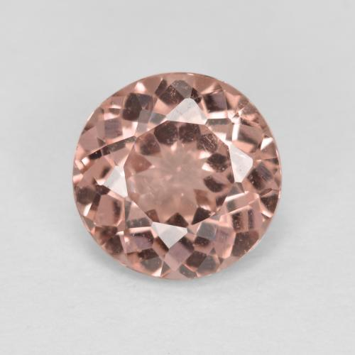 Orange Pink Malaya Garnet Gem - 1.3ct Round Facet (ID: 495914)