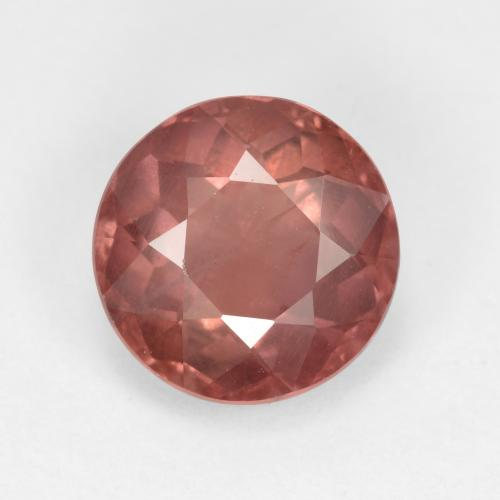 2.3ct Round Facet Pink Orange Malaya Garnet Gem (ID: 495925)