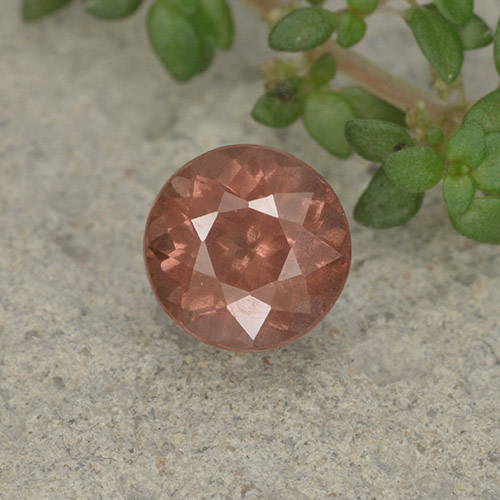 1.3ct Round Facet Pink Orange Malaya Garnet Gem (ID: 495950)