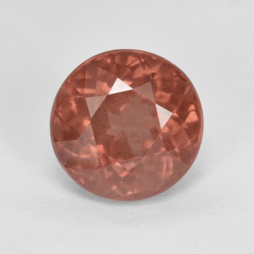 2.2ct Round Facet Pinkish Rose Malaya Garnet Gem (ID: 498574)