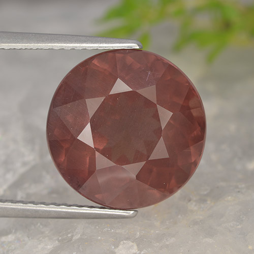 Pinkish Rose Malaya Garnet Gem - 9.6ct Round Facet (ID: 498583)