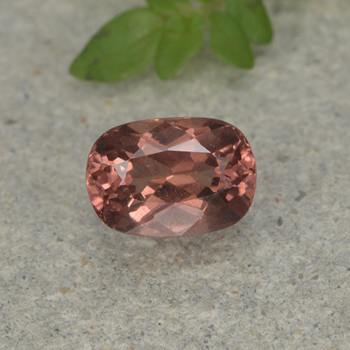 Orange Pink Malaya Garnet Gem - 0.9ct Cushion-Cut (ID: 498927)