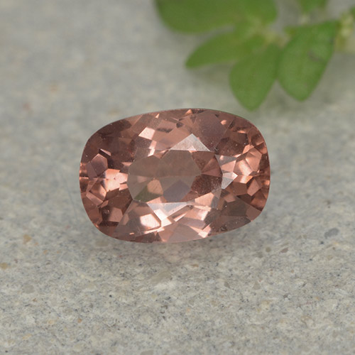Orange Pink Malaya Garnet Gem - 0.7ct Cushion-Cut (ID: 498928)