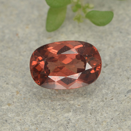 Orange Pink Malaya Garnet Gem - 0.8ct Cushion-Cut (ID: 498935)