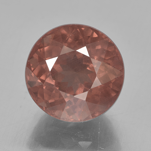7ct Round Facet Orange Pink Malaya Garnet Gem (ID: 499887)