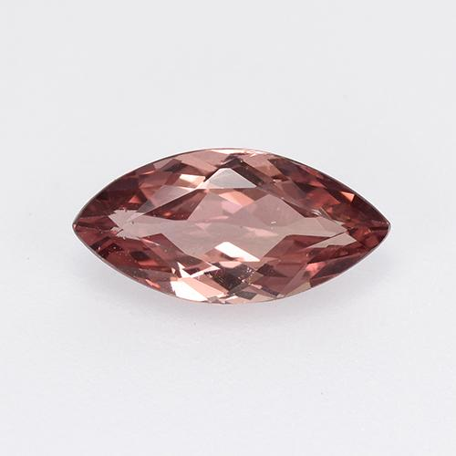 Light Rosewood Pink Malaya Garnet Gem - 1.2ct Marquise Facet (ID: 520343)