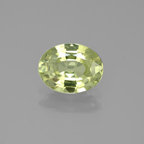 Buy 1.25ct Yellowish Green Mali Garnet 7.95mm x 6.13mm from GemSelect (Product ID: 254125)