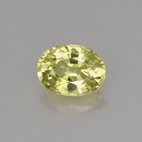 Buy 1.15 ct Yellowish Green Mali Garnet 6.99 mm x 5.2 mm from GemSelect (Product ID: 254144)