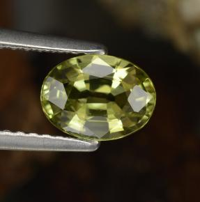 Buy 1.14ct Greenish Golden Mali Garnet 7.44mm x 5.51mm from GemSelect (Product ID: 254964)