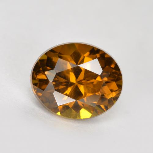Deep Brownish Orange Mali Garnet Gem - 1.1ct Oval Facet (ID: 377070)
