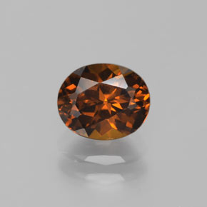 1.4ct Oval Facet Brown Orange Mali Garnet Gem (ID: 377072)