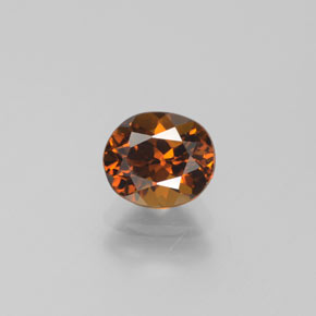 Medium-Dark Orange Mali Granate Gema - 1.1ct Forma ovalada (ID: 377308)
