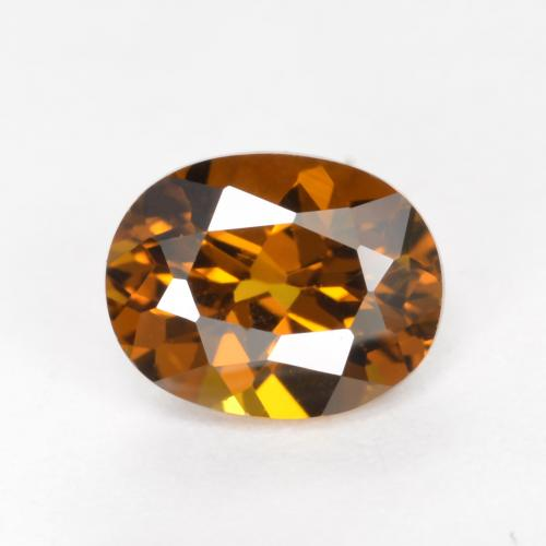 Deep Brownish Orange Mali Granate Gema - 1.1ct Forma ovalada (ID: 377310)