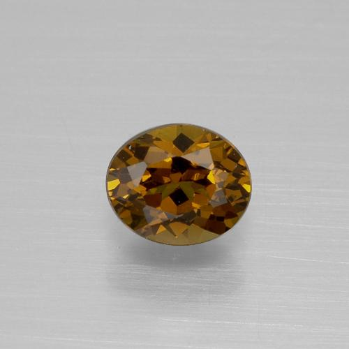 Medium-Dark Brown Mali Granate Gema - 1.1ct Forma ovalada (ID: 377313)
