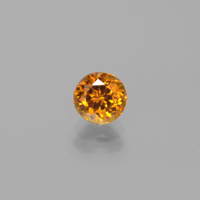 Deep Orange-Gold Mali Granate Gema - 1.1ct Faceta Redonda (ID: 382273)