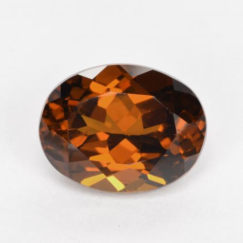 Warm Brown Mali Garnet Gem - 2.7ct Oval Facet (ID: 479816)