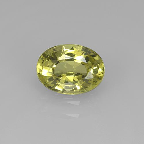 Yellowish Green Mali Garnet Gem - 1.3ct Oval Facet (ID: 505588)