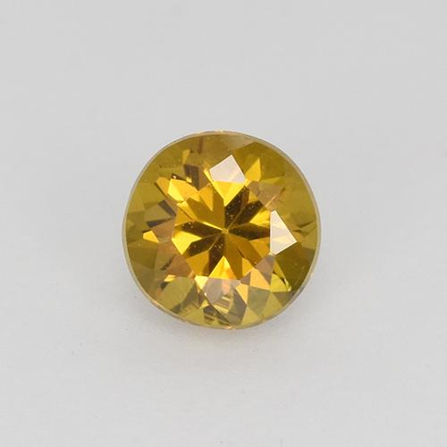 Medium Gold Mali Granate Gema - 0.3ct Corte Diamante (ID: 511799)