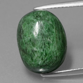 Green Maw-Sit-Sit Gem - 10ct Oval Cabochon (ID: 406685)