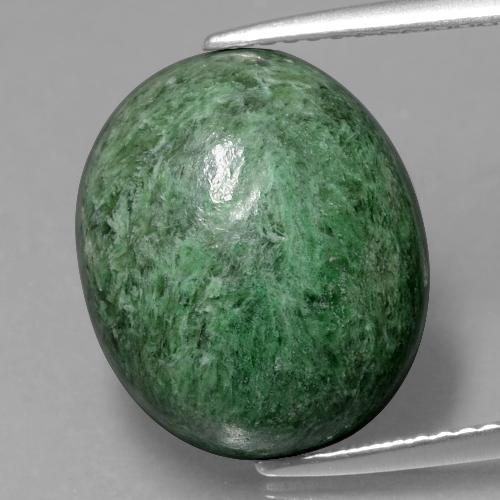 Green Maw-Sit-Sit Gem - 12.1ct Oval Cabochon (ID: 406689)